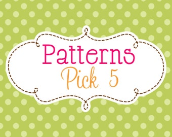 5 Crochet or Knitting Patterns Savings Pack, PDF Files, Permission to Sell Finished Items, Bundle Deal