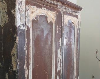 Vintage industrial metal cabinet, wardrobe, shed, or closet