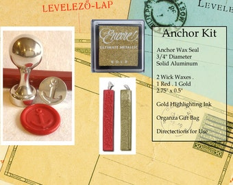 Anchor Wax Seal Stamp Kit