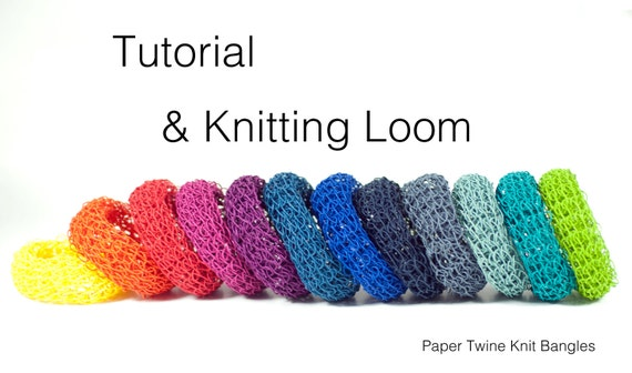 DIY Knit Bangle Tutorial / Pattern & Knitting Loom by PaperPhine