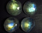 AAAA - High Quality - Rainbow Moonstone - Huge Size - 16 mm Rose Cut Round - Full Rainbow Gold Flashy Fire Nice Sparkle - 4 pcs