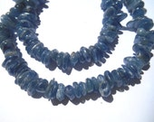Gemstone Bead, Polished Blue Kyanite Short nugget shards Bead, 10x3mm  8 inches  about 80 pieces