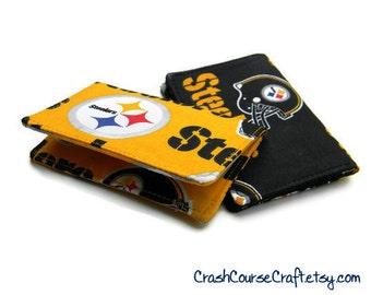 Pittsburgh Steelers Wallet NFL - Choose your Color - business card holder, credit card holder, gift card holder