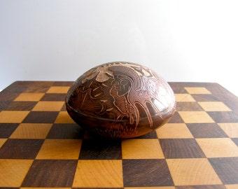 Santa Clara Pueblo Pottery - Native American Art - Paul Naranjo Seed Pot - Sgraffito Style Pottery - Rare Ceramic Art Craft - Ethic Art