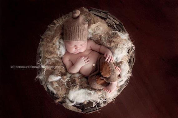 Newborn Baby Photo Prop Organic Nest Fluff Basket Stuffer Jute