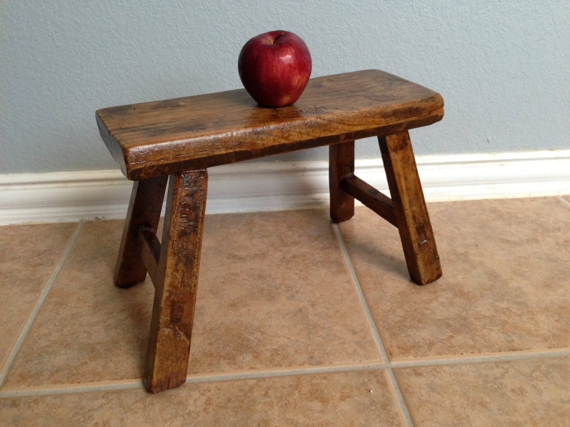 Antique Vintage Japanese Milking Stool Child 39 S Bench
