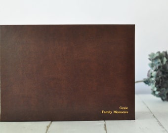 CUSTOM Wedding Guest Book or Photo Album - your photo/art on cover - choose your colors