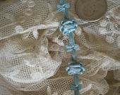 1 foot of this wonderful ribbon work in silk garland in beautiful colors