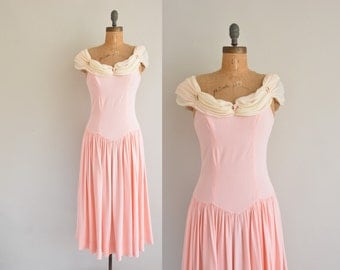 Belle Of The Ball / pink party prom dress / 60s vintage dress