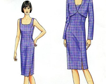 Vogue Dress Pattern 7695 - Misses' Jacket and Dress - SZ 8/10/12