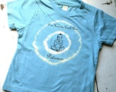 4T Kids Organic Patience Buddha T Shirt, Earthy Blue, short sleeve childrens shirt, yoga clothing