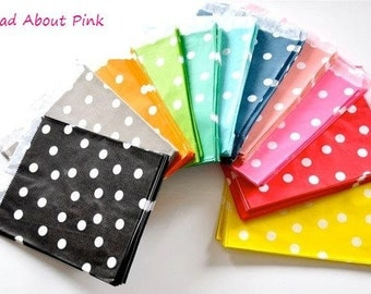 Glassine paper dots bags in different colours - set of 10