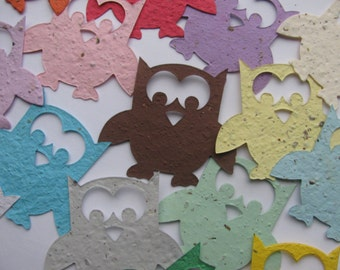 25 Seed Paper Owls (wings out)