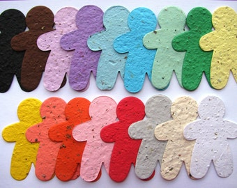 25 Seed Paper Gingerbread Men
