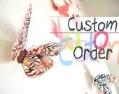 Custom Listing --- Blue Print Large Butterflies