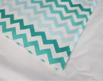 Aqua Chevron Multitone Waterproof Changing Pad - small