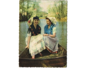 4 Vintage Costume Postcards - Spreewald - Germany - Europe
