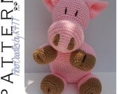 INSTANT DOWNLOAD : Pillow Pal Piggy Crochet Pattern