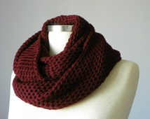 Knitted cowl, Fall - Winter accessories, Beautiful color , women, knit winter accessories,chunky cowl scarf