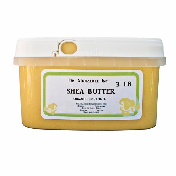 3 LB  Raw Unrefined Shea Butter From Ghana
