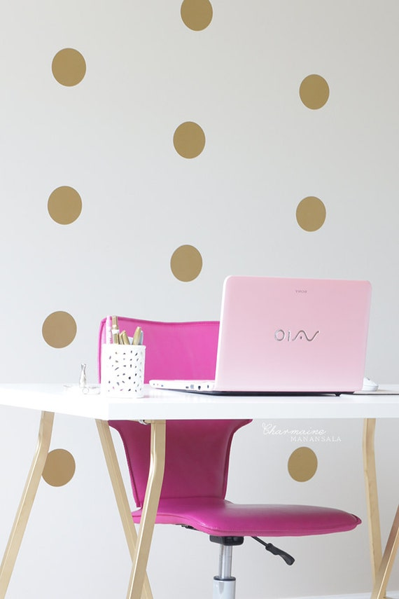 vinyl wall sticker decal art polka dots. Black Bedroom Furniture Sets. Home Design Ideas