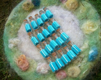 Turquoise Pixie Sparkles, Happy Birthday Party Favors 20 Bottles Fairy/Pixie/Pirate/Gnome Party Favors,Raffle Prize,Small Gift,Bag Filler
