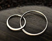 Two Circle Link Large - C2873, Choose From Sterling Silver Or Gold Plated - 27x14mm, Connectors, Findings, Infinity Links
