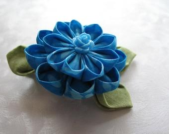 Rainstorm Rose Kanzashi Flower Hair Clip