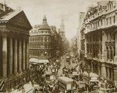 Cheapside & Mansion House, London, England - Unused Vintage Postcard