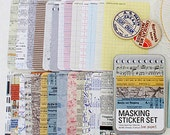 Masking Stickers in Iron Case / Paper - 27 sheets (2.8 x 4.3in)