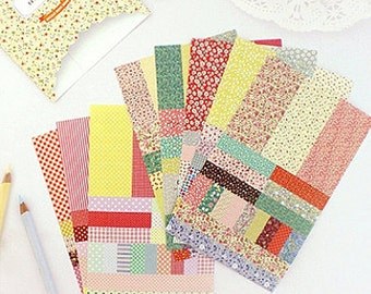 More More Stickers - Petit Deco Floral and Basic Pattern, 8 sheets (4.1 x 6.7in)