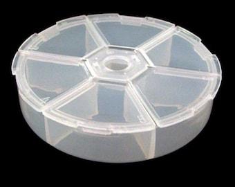 6 Compartment Plastic Storage Case
