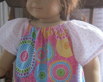 American Girl doll clothes, peasant dress for 18 inch doll