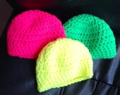 Totally Neon Crocheted Hats for Dolls