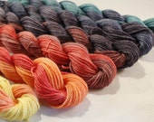 MADE to ORDER -Mini Skein Sock Yarn Fingering Weight Hand Dyed - Defiance - 600 yards
