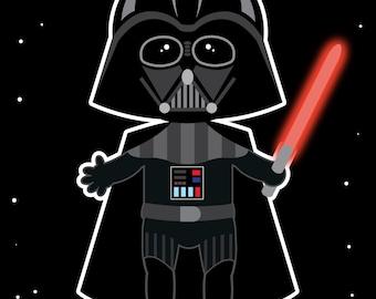 "Baby Nursery Darth Vader Star Wars 8"" by 10"" Print"
