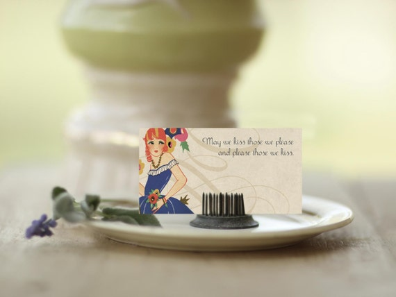 Place Cards for Wedding or Shower - Deco Style Set of 35 for vintage weddings