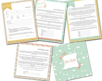 INSTANT Download - Basic Photography Forms Templates - 0859