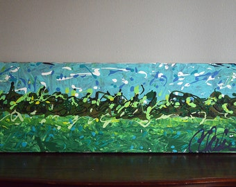Forest Meadow Landscape Acrylic Painting