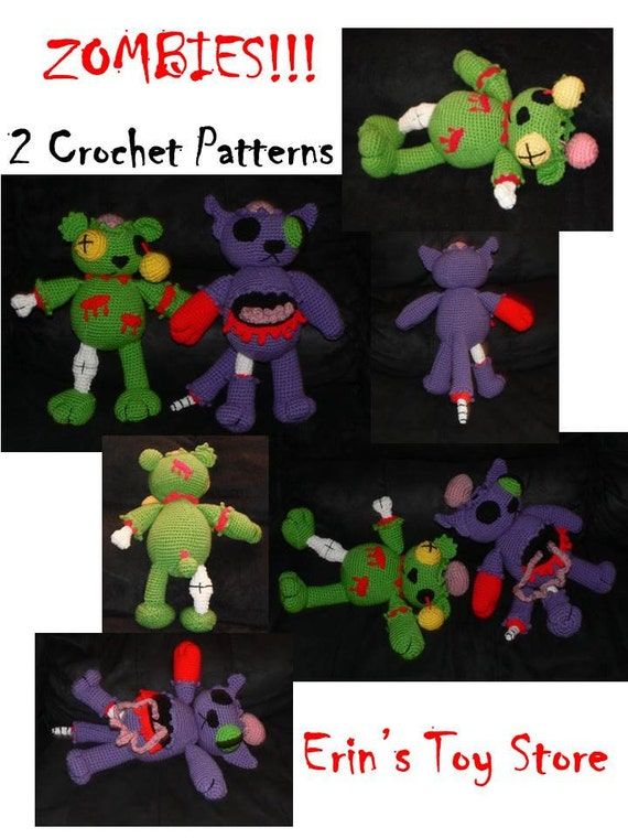 Double Zombie Attack 2 Crochet Patterns by Erin Scull