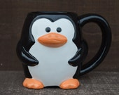 Winter is Coming - Chilly Penguin Ceramic Coffee or Hot Cocoa Mug - Ready to Ship