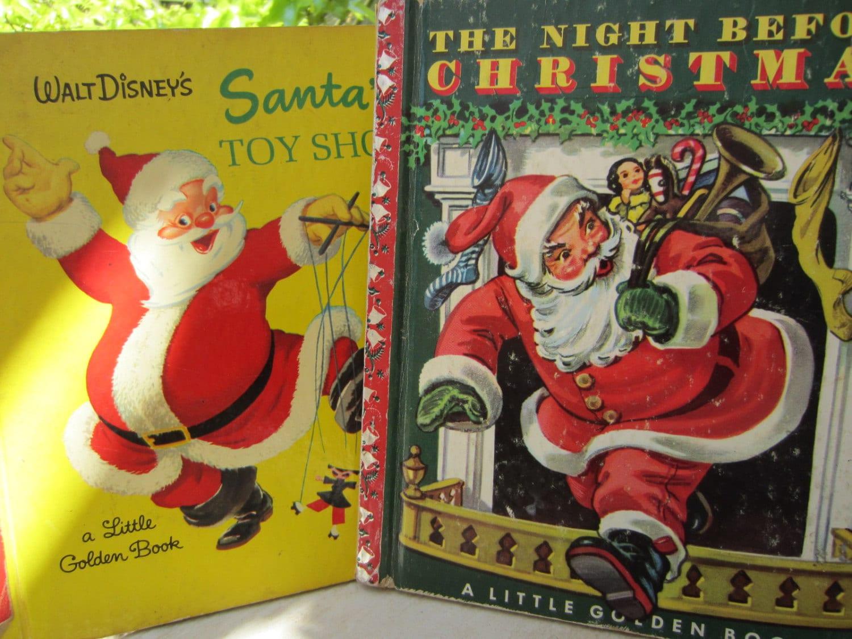 Two Vintage Christmas Classic Little Golden Books Vintage