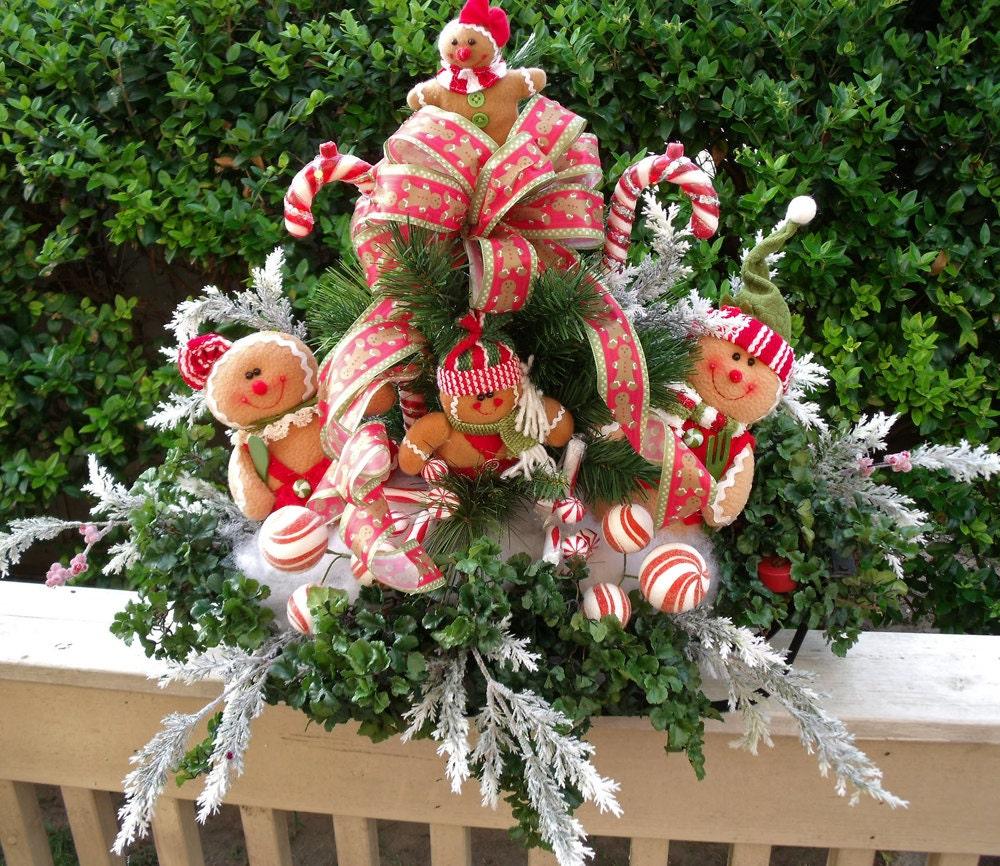 Large christmas floral arrangement centerpiece
