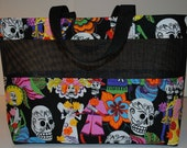 Medium Day of the Dead Mesh Tote Bag