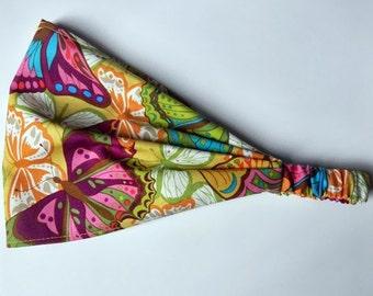 Yoga Headband LINEN- Valori Wells Cotton Fabric for Free Spirit - Cocoon, Liv in Coral