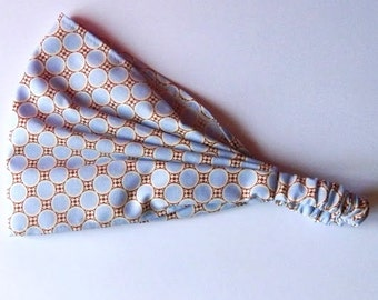 Yoga Headband Cotton Bandana - Amy Butler Gypsy Caravan Deco Dots fabric