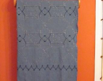 Denim Swedish Weave Lap Blanket