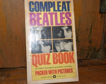 Compleat Beatles Quiz Book  John, Paul George and Ringo ,  1960's
