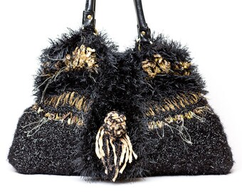 HANDBAG KNITTED   One Of A Kind