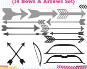 14 Bow and Arrow SVG DXF cut files